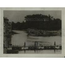 1918 Press Photo River Marne, France Pontoon Bridge - ftx00036