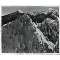 1974 Press Photo Cascade Mountains, Stevens Pass, Washington - ftx00256