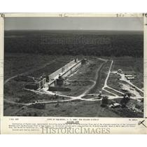 1950 Press Photo View of construction site of Algiers Lock in New Orleans.