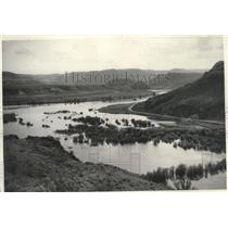 1940 Press Photo Backwater at mouth of Sanpoil River - spx15620