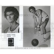 1975 Press Photo Dennis Awtrey, center for the Phoenix Suns. - nox03085