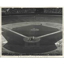 1967 Press Photo Houston Astros and Los Angeles Dodgers game at the Astrodome.