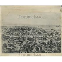 1853 Press Photo Historic Milwaukee, Wisconsin-Prominent Street Wisconsin Avenue