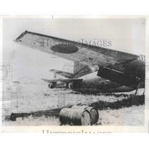 1944 Press Photo Shows Damaged Japanese Planes on the Airstrip at Saipan