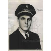 1938 Press Photo Richard J Young American Airlines Pilot Assigned to Chicago
