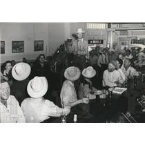 1948 Press Photo Cowboys having fun - spa38101