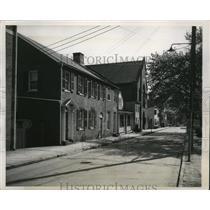 1949 Press Photo Ancient Brick Houses of Annapolis, Maryland - mja52193