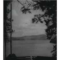 1954 Press Photo Couer d' Alene lake from Lutherhaven, site for music camp