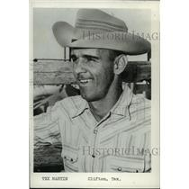 1961 Press Photo Tex Martin, Clifton Texas cowboy - spa38921
