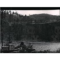 1964 Press Photo Clearing of timber along Dworshak Dam - spa40013