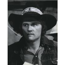 1980 Press Photo Cowboy, Doug Vald - spa38909