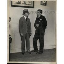 1937 Press Photo John Broderick & Paul Yallico sports writers - neo01265