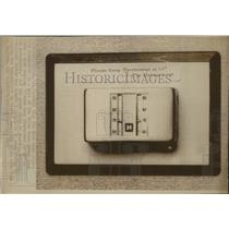 1977 Press Photo White House Press Room's Thermostat and the signage - spa42002