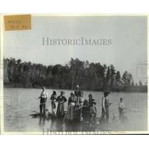 1898 Press Photo Group on the Water at ClearLake, Wisconsin - mja53292