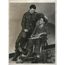 1933 Press Photo Edward Harding & Peter Fortuna, Disabled Eagle Boy Scouts