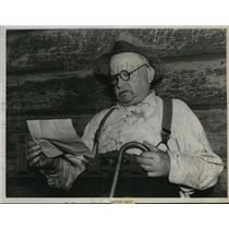 1939 Press Photo Thomas O'Neill Applies for Pension, Inherits $50,000, San Jose