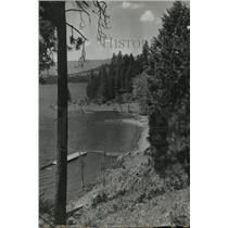 1947 Press Photo Lutherhaven church camp at Coeur d'Alene lake's Mica Bay