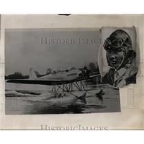 1931 Press Photo Aviator Seijo Yoshiuwara and his aircraft - neo00647