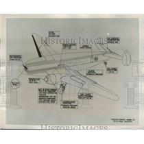 1939 Press Photo Curtiss-Wright CW-20 Transport Plane Diagram - nef64750