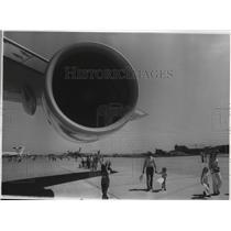 1976 Press Photo Jet pod on 747, Fiarchild Open House - spa42130