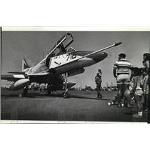 1982 Press Photo Navy Sky Hawk plane at the Fairchild Air Force Base Open House