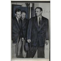 1953 Press Photo Cuban President Carlos Secarras & Segunde Curti - nep02824