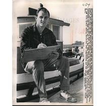 1960 Press Photo Jim Ridlon defensive back of 49ers at Redwood City CA