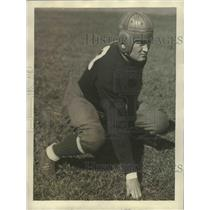 1929 Press Photo Johnny Law Captain & Guard of Notre Dame - sbs00654