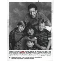 "1991 Press Photo Tim Allen and cast of TV Show ""Home Improvement"" - lfx05098"