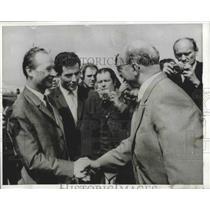1968 Press Photo Alexander Dubcak Welcomes Communist Boss Walter Ulbricht