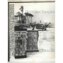 1956 Press Photo American Food Ration Piled Up at USAF Base to be Loaded on C119