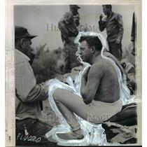 1960 Press Photo Impressions of skin of Captain Joseph Kittinger Makes Skin Look