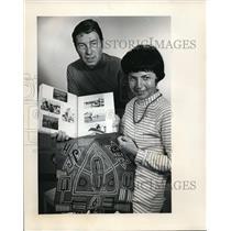 1970 Press Photo E.C. Pitman Personal Scrapbook Mola Cuna Indians Brigantine