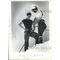 1983 Press Photo Climber Craig Taylor gets instructions from Mike Volk