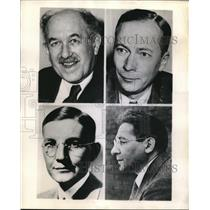 1944 Press Photo Nobel Award Dr O. Stern, Dr H. Dam, Dr I. Gasser & Dr I. Rabi