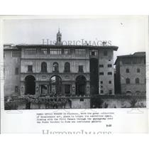 1979 Press Photo Famed Uffizi Museum in Florence w/ great collection of art