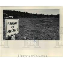 1978 Press Photo A flight sign at the Flying Ranch in Oregon - orb43548