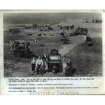 1979 Press Photo Recreating life of settlers on western frontier - orb45409