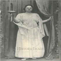 1920 Press Photo Woman Greek Dress Torch - RRY27247