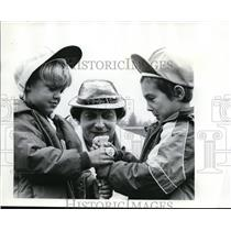 1977 Press Photo Brian Stromberg, Scott & Ronald Willoughby at Tualatin Hills
