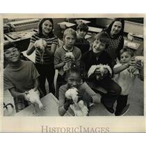 1973 Press Photo Rosalie Mutch, R. Nacaste, J. Haddix, R. Freeman, R. Day, Davis