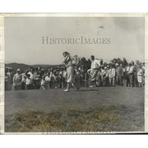 1922 Press Photo Johnny Farrell, Willie MacFarlane at Open golf championship