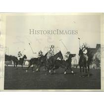 1928 Press Photo Polo Match at the Westchester-Biltmore Country Club