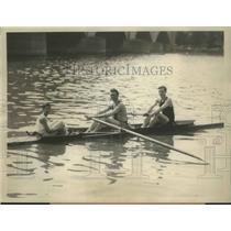 1928 Press Photo Augustus S Goetz & Joseph Dougherty of the Penn A.C. Row Assoc