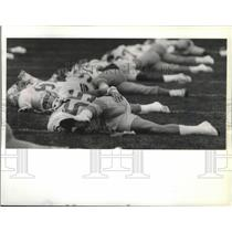 1989 Press Photo Seattle Seahawks Football Team's Brian Bosworth at practice