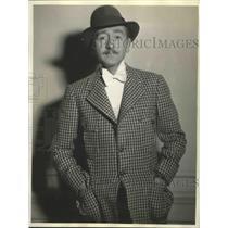 1933 Press Photo Adolph Menjou Motion Picture Star - sbz00537