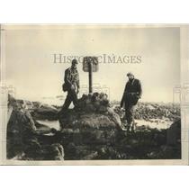 1928 Press Photo British Explorers at Franz Josef Land Which They Explored 1925