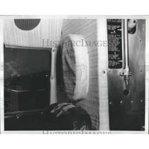 1960 Press Photo DC-3 Transport Plane with Padded Bulkheads & Fuselage Walls
