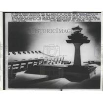 1960 Press Photo Model of Dulles International Airport Under Construction
