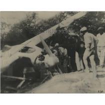1927 Press Photo E Smith's Plane as it Crashed in A Kiwi Tree on Moloka Island